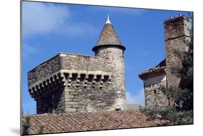 Keep of Lespinasse Castle, Near Saint-Beauzire, Auvergne, Detail, France--Mounted Giclee Print