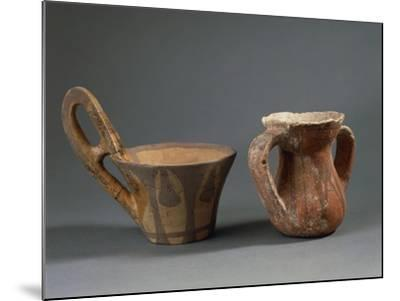 Pottery Vessels with Geometric Decorations, from Sicily Region, Italy--Mounted Giclee Print