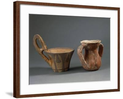 Pottery Vessels with Geometric Decorations, from Sicily Region, Italy--Framed Giclee Print