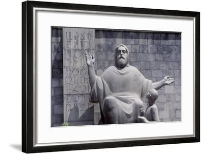 Armenia, Erewan, Statue of Mesrop Mashtots in Mesrop Mashtots Institute of Ancient Manuscripts--Framed Giclee Print