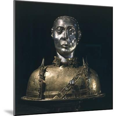 Silver Bust Reliquary of Saint Bernard from Aosta, 1424--Mounted Giclee Print