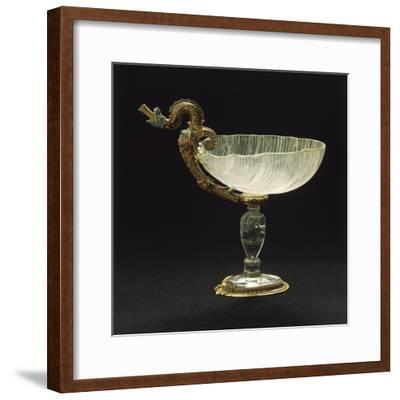 Rock Crystal Cup Set over Enameled Gold Stand--Framed Giclee Print