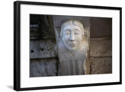 Human Face, Detail of Balcony Depicting Human Face, Historical Centre, Barletta, Apulia, Italy--Framed Giclee Print