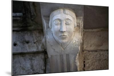 Human Face, Detail of Balcony Depicting Human Face, Historical Centre, Barletta, Apulia, Italy--Mounted Giclee Print