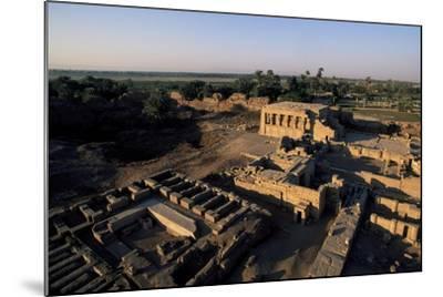 Ruins of Roman Mammisi, Temple of Hathor, Dendera, Egypt--Mounted Giclee Print