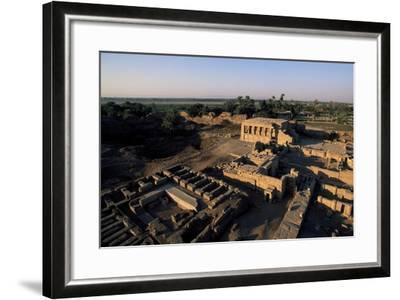 Ruins of Roman Mammisi, Temple of Hathor, Dendera, Egypt--Framed Giclee Print