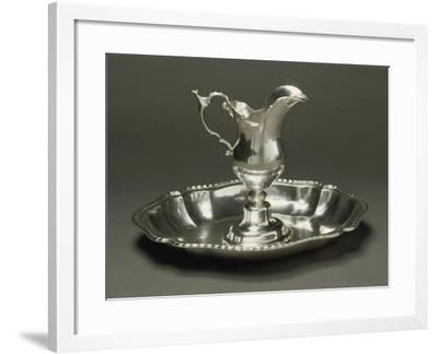 Silver Ewer and Basin, Augsburg, around 1775--Framed Giclee Print
