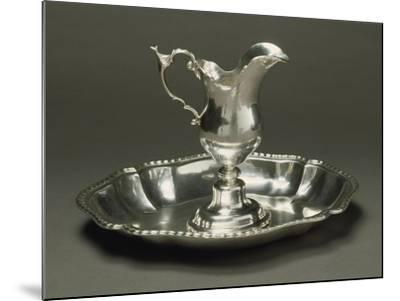 Silver Ewer and Basin, Augsburg, around 1775--Mounted Giclee Print