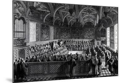 Special Session Held by Louis XVI at Palace of Justice in Paris, November 19, 1787, France--Mounted Giclee Print