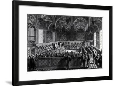 Special Session Held by Louis XVI at Palace of Justice in Paris, November 19, 1787, France--Framed Giclee Print