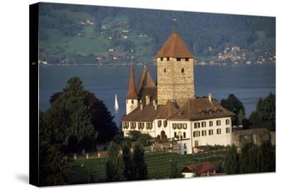 Spiez Castle, Canton of Bern, Switzerland, 12th-17th Centuries--Stretched Canvas Print