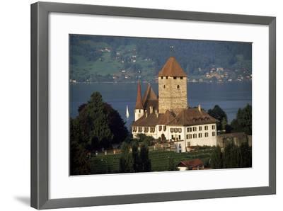 Spiez Castle, Canton of Bern, Switzerland, 12th-17th Centuries--Framed Giclee Print