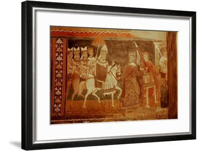 Pope Sylester Returns: Scene from the Life of Emperor Constantine and St Sylvester--Framed Giclee Print