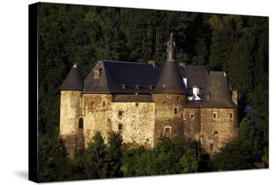 12th Century Feudal Castle in Clervaux, Luxembourg--Stretched Canvas Print