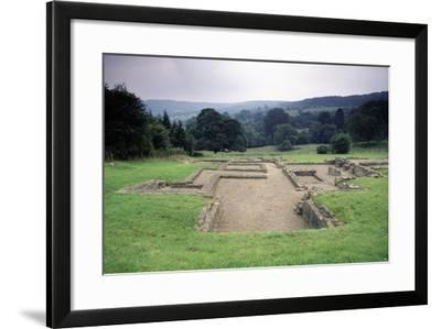 Ruins of the Great Witcombe Roman Villa, Gloucestershire, England, United Kingdom--Framed Giclee Print