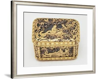 Gold and Pietre Dure Snuffbox--Framed Giclee Print