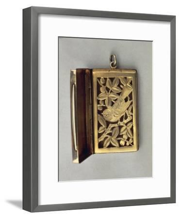 Vinaigrette, Silver Fragrance Tin with Vegetable and Zoomorphic Decoration--Framed Giclee Print