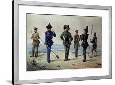 Uniforms of the 1848 Legions--Framed Giclee Print