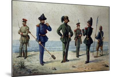 Uniforms of the 1848 Legions--Mounted Giclee Print