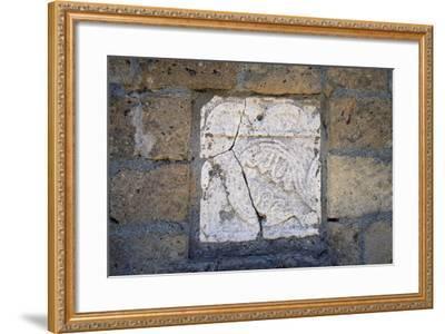 Bas-Relief in Walls of Cathedral in Civita Di Bagnoregio, Lazio, Italy--Framed Giclee Print
