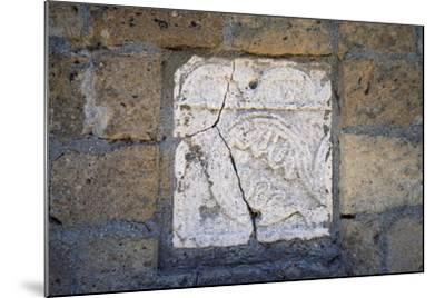 Bas-Relief in Walls of Cathedral in Civita Di Bagnoregio, Lazio, Italy--Mounted Giclee Print