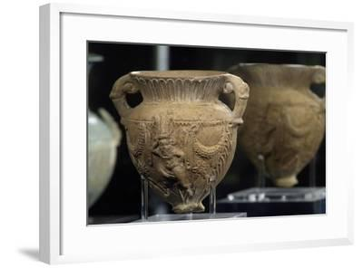 Cantaro Decorated with Relief of God Bes, Terracotta--Framed Giclee Print