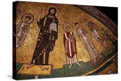 Apse Mosaic with Christ and Saints--Stretched Canvas Print