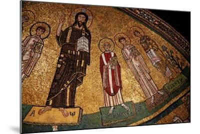 Apse Mosaic with Christ and Saints--Mounted Giclee Print