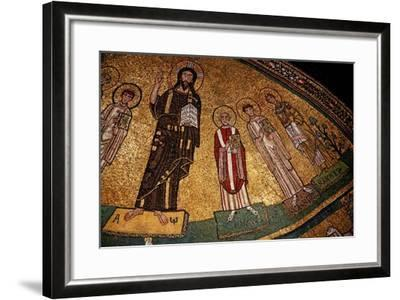 Apse Mosaic with Christ and Saints--Framed Giclee Print