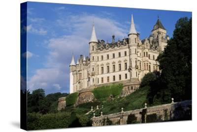 View of Dunrobin Castle from Gardens, Near Golspie, Sutherland, Scotland, 14th-19th Century--Stretched Canvas Print