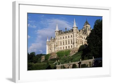 View of Dunrobin Castle from Gardens, Near Golspie, Sutherland, Scotland, 14th-19th Century--Framed Giclee Print