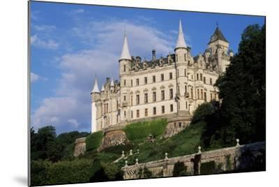 View of Dunrobin Castle from Gardens, Near Golspie, Sutherland, Scotland, 14th-19th Century--Mounted Giclee Print