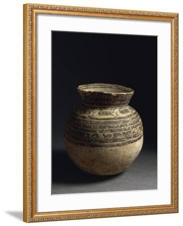 Ceramic Vase Painted with Geometric Pattern, from Tell Hassan, Late 5th Millennium BC--Framed Giclee Print