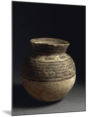 Ceramic Vase Painted with Geometric Pattern, from Tell Hassan, Late 5th Millennium BC--Mounted Giclee Print