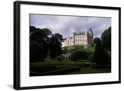 A View from Gardens of Dunrobin Castle, Near Golspie, Sutherland, Scotland, 14th-19th Century--Framed Giclee Print