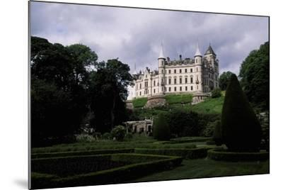 A View from Gardens of Dunrobin Castle, Near Golspie, Sutherland, Scotland, 14th-19th Century--Mounted Giclee Print