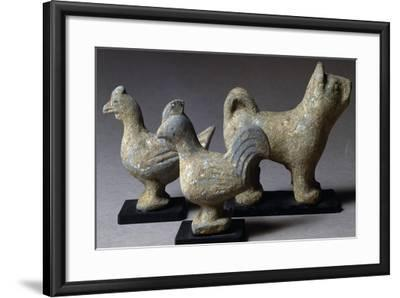 Figures of Animals, Terracotta Funerary Statues, China, Wang Mang Period--Framed Giclee Print