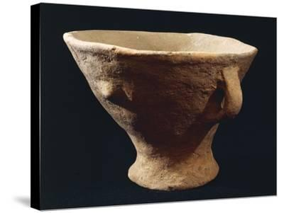 Italy, Bronze Age, Castelluccio Culture, Segesta Style Terracotta Vase from Sicily Region--Stretched Canvas Print