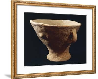 Italy, Bronze Age, Castelluccio Culture, Segesta Style Terracotta Vase from Sicily Region--Framed Giclee Print