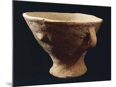 Italy, Bronze Age, Castelluccio Culture, Segesta Style Terracotta Vase from Sicily Region--Mounted Giclee Print