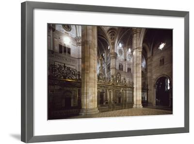 Bronze and Wrought Iron Railing Separating Transept from Nave, 1660--Framed Giclee Print