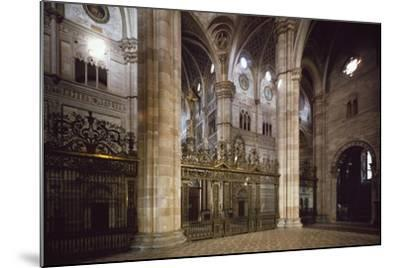 Bronze and Wrought Iron Railing Separating Transept from Nave, 1660--Mounted Giclee Print