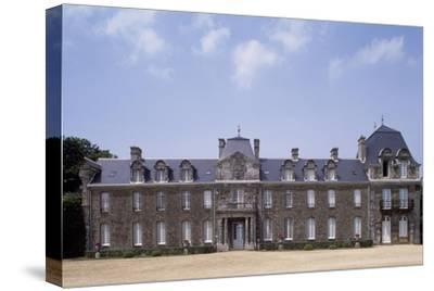 Chateau De Caradeuc's South Facade, Near Plouasne, Brittany, France, 18th-19th Century--Stretched Canvas Print