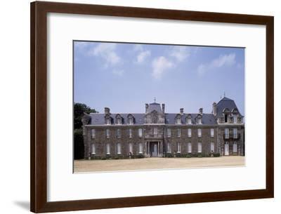 Chateau De Caradeuc's South Facade, Near Plouasne, Brittany, France, 18th-19th Century--Framed Giclee Print