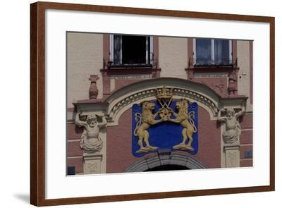 Facade of Jindrichuv Hradec's Old Town Hall, Bohemia, Detail, Czech Republic--Framed Giclee Print
