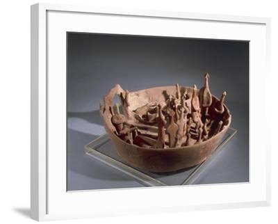 Clay Model Representing Sacred Rituals, from Vounous--Framed Giclee Print
