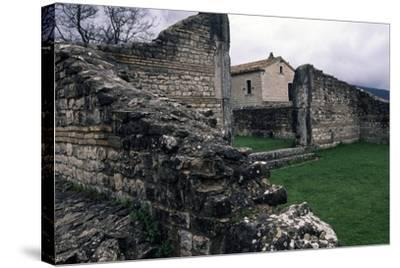 Ruins of Roman Houses, Ancient Roman City of Saepinum, Sepino, Molise, Italy--Stretched Canvas Print