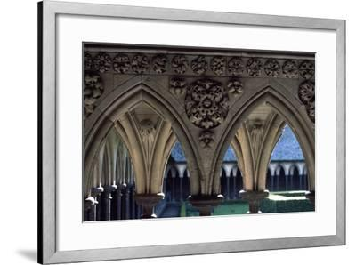 Cloister of Marvel, Abbey of Mont St. Michel, Normandy, France--Framed Giclee Print
