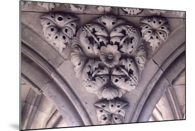 Relief Decoration from Arches of Cloister of Marvel, Abbey of Mont St Michel, Normandy, France--Mounted Giclee Print