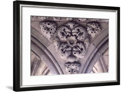 Relief Decoration from Arches of Cloister of Marvel, Abbey of Mont St Michel, Normandy, France--Framed Giclee Print